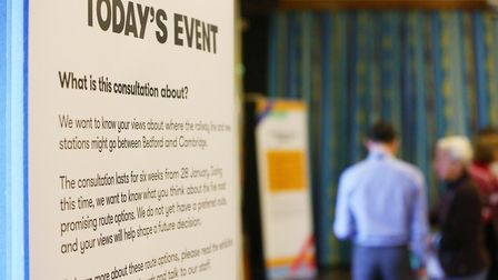 The public are invited to the East West Rail Consultation held at Bassingbourn Primary School. Pictu