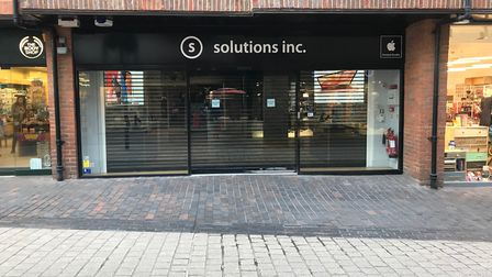 The Solutions inc store in The Maltings, closed for business.