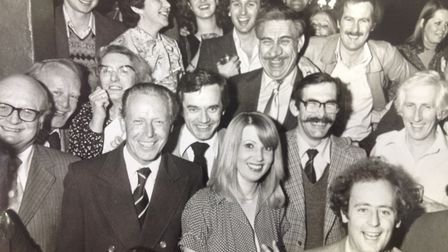 John Manning with his colleagues at the Herts Ad.