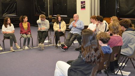 Pupils have started workshopping Mark Wheeller's new play Game Over at Beaumont School in St Albans.