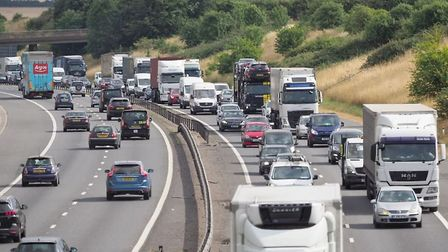 Queues on the M11. Picture: CELIA BARTLETT PHOTOGRAPHY