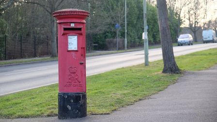 A postbox on Knightsfield