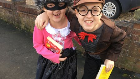 Gangster Granny and Mr Stink for World Book Day. Picture: Katie Sams