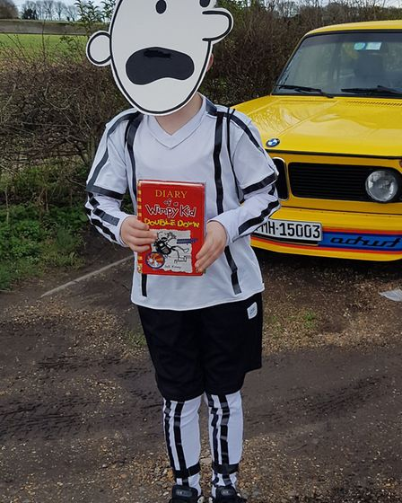 Griff, eight, from Sandridge Primary School as Diary of a Wimpy Kid for World Book Day. Picture: And