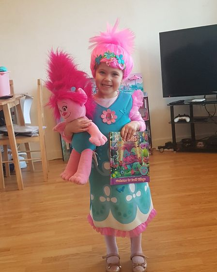 Imogen as Princess Poppy for World Book Day. Picture: Sabrina Miller