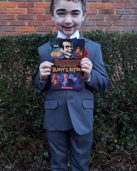 Logan from Wheatfields School as Slappy from Goosebumps for World Book Day. Picture: Laura Harmer