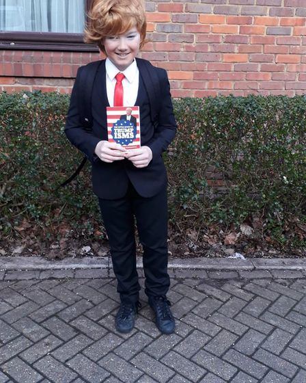 Neo from Wheatfields School as Donald Trump for World Book Day. Picture: Laura Harmer