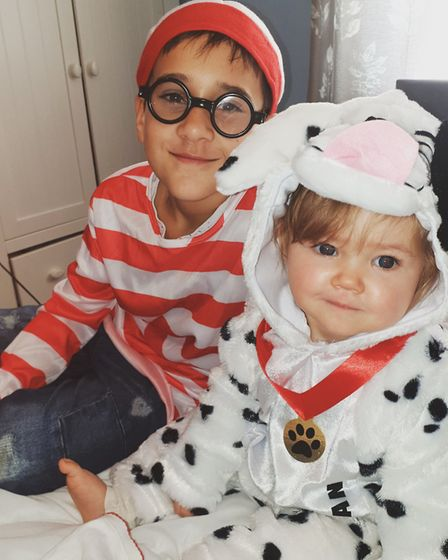 Where's Wally and a Dalmatian for World Book Day. Picture: Jodie Harrington