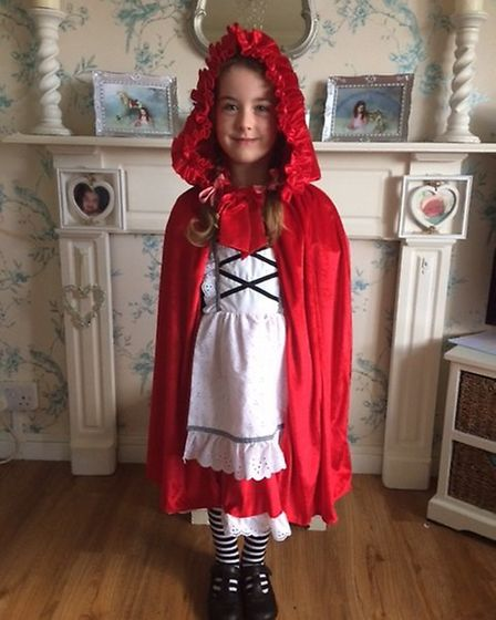 Faith Holahan, five, as Little Red Riding Hood for World Book Day. Picture: Angela Holahan