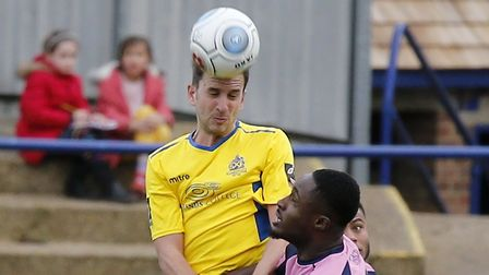 Sam Merson in action against Dulwich Hamlet. Picture: LEIGH PAGE