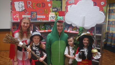 Pupils at Crosshall Infant School in Eaton Ford celebrate World Book Week