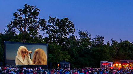 How Mamma Mia! Here We Go Again might look at The Luna Cinema at Highfield Park in St Albans. Pictur