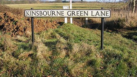 Kinsbourne Green Lane, near the Common. Picture: Archant