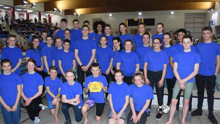 The 2019 St Albans District Secondary Schools Swimming Team.