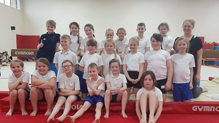 Bury C of E Primary School entered three teams in the Year 3/4 Gymnastics competition. Picture: SUBM