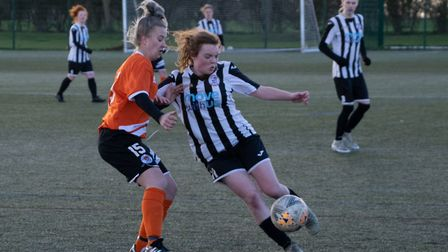 Fran Worrall found the net as St Ives Town Ladies Development reached the Cambridgeshire Women's Lea