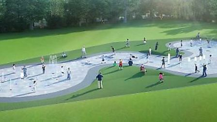 A image of what the splash pad could look like in St Neots