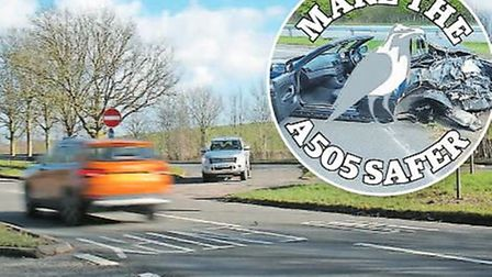 The Crow launched its Make the A505 Safer campaign after numerous crashes on the stretch between Roy