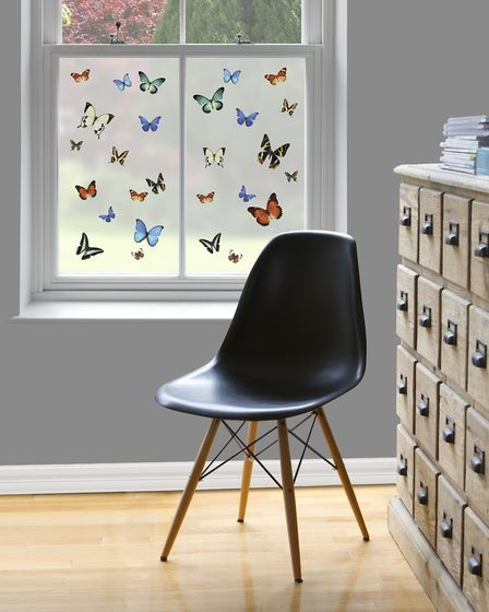 Butterfly Pattern Window Film, £12.25, Purlfrost. Picture: Purlfrost/PA