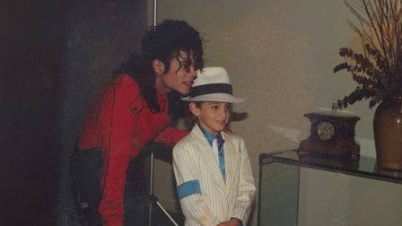 Michael Jackson and Wade Robson. Picture: Pro Co