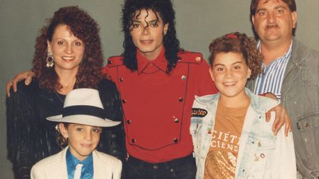 MJ and THE ROBSONS FEB 1990. Picture: Wade Robson archive / AMOS Pictu