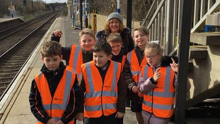 Children visited Foxton signal box to learn about rail safety. Picture: Govia Thameslink Railway