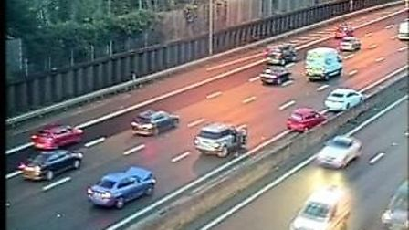 M25 traffic: A four-car crash anticlockwise near Junction 19 for Watford has caused delays this morn