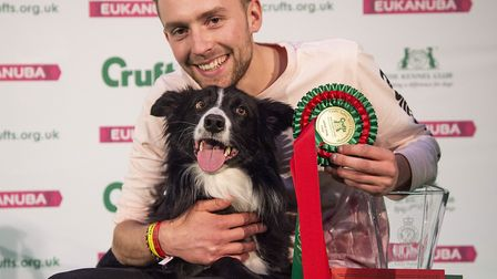 Agility Championship Final Large winner Dan Shaw and Geek on Sunday March 10, the final day of Cru