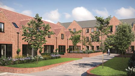 A CGI of Welcombe Mews, part of the Welcombe House collection on Southdown Road, Harpenden. Picture: