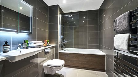 The bathrooms' white sanitaryware is by Villeroy and Boch. Picture: Fairview New Homes