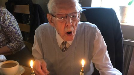 David Smith marks his 103rd birthday. Picture: CONTRIBUTED