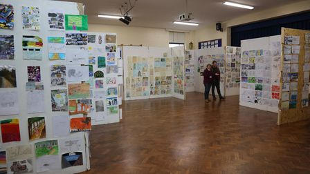 """Schools' project """"Where we Live"""" displayed in the Godmanchester Community Academy. Picture: GRAHAM T"""