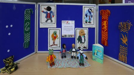 When Harry met Ratty - knitted work combining The Wind in the Willows with the Harry Potter books, o