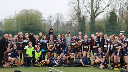 Old Albanian Saints defeated Guildford Gazelles 17-10 to win promotion to Women's Championship South
