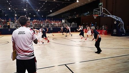 The Olympic basketball team in action