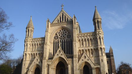 St Albans Cathedral is the oldest site of continuous Christian worship in Britain and stands over th