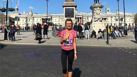 Emily Hickey-Mason from St Albans will run the London Marathon for the British Heart Foundation. Pic