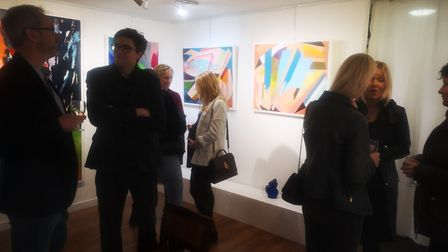 Abstract art by Stuart Beck at Nude Tin Can Gallery.