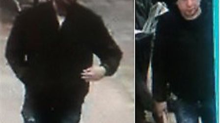 Police would like to speak to two men after a bank card was stolen from an elderly man in St Albans.