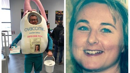 Royston's Craig McMurrough is running the London Marathon in an ovary costume to raise funds for Ova