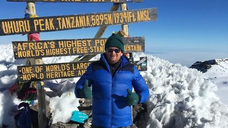 Craig McMurrough is no stranger to big charity challenges, and has climbed Mount Kilimanjaro. Pictur