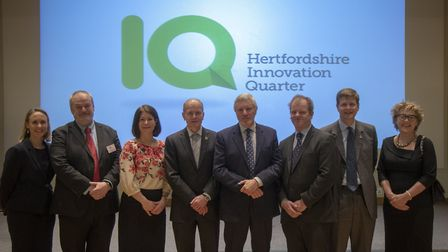 Hertfordshire IQ partners from Rothamsted Research, Hertfordshire LEP, BRE Group, St Albans district