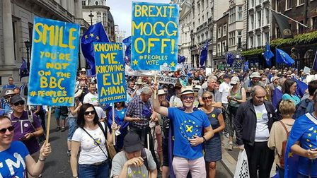 Members of St Albans for Europe at the People's Vote March in London.