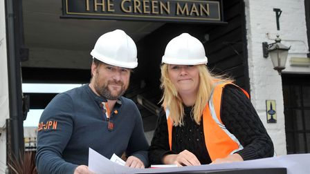 The Green Man licensees Andy Murray and Kerry Howelles. Picture: Star Pubs & Bars Picture: Star Pubs