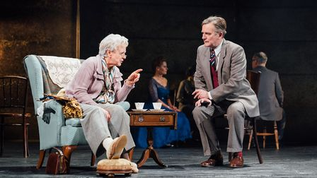 Susie Blake as Miss Marple and Simon Shepard as Chief Inspector Dermot Craddock in The Mirror Crack'