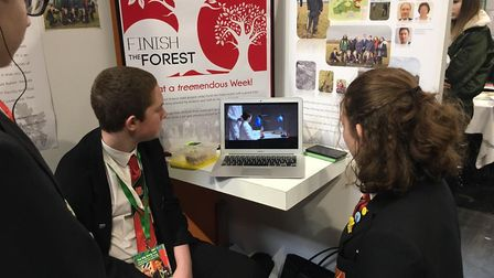 Pupils at the Big Bang Fair in Birmingham participating in the Big Lesson remotely. Picture: Alban A