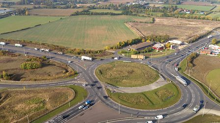 The Black Cat roundabout and single carriageway section of the A428 - improvements are set to start