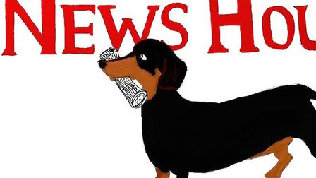 The NewsHound logo, as designed and created by reporter Anne Suslak. Picture: Anne Suslak