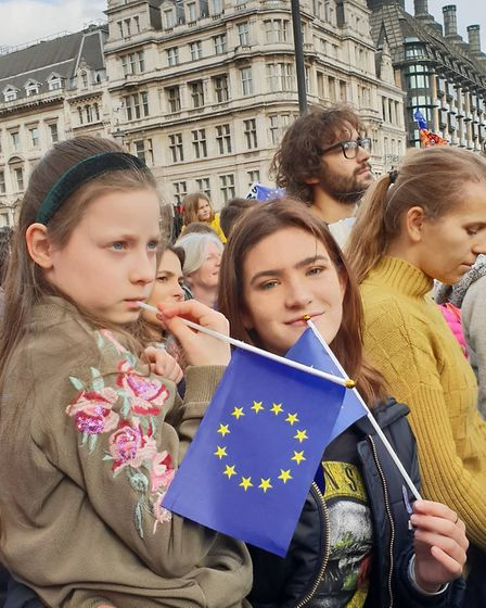 St Albans and Harpenden Remainers on the demonstration through London. Picture: St Albans for Europe