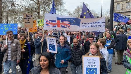 It is estimated about a million people went on the People's Vote march. Picture: St Albans for Europ